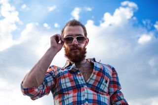 man in sunglasses with beard