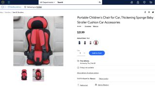 Exclusive: Walmart removes 'potentially deadly' baby car seat from sale