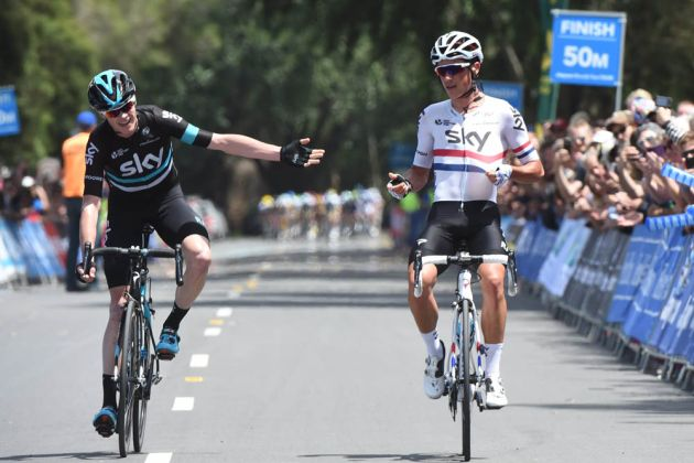 Chris Froome points to Peter Kennaugh as the British duo's efforts to break free from the peloton paid off.