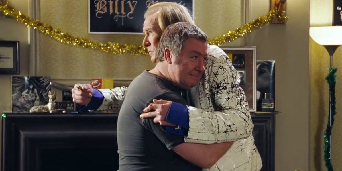 Gregor Fisher and Billy Nighy in Love Actually