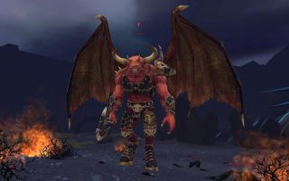 Goreslake the Bloodthirster, greater daemon of Khorne, not a nice guy