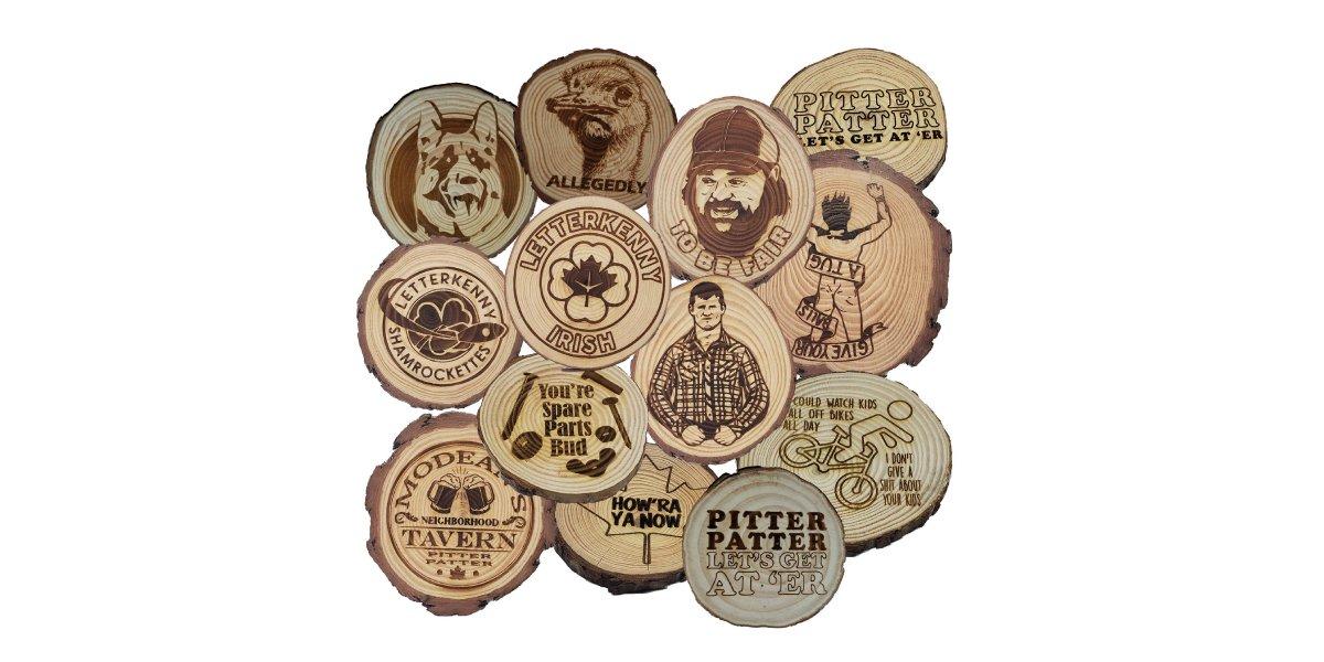 Letterkenny Wooden Coaster Set