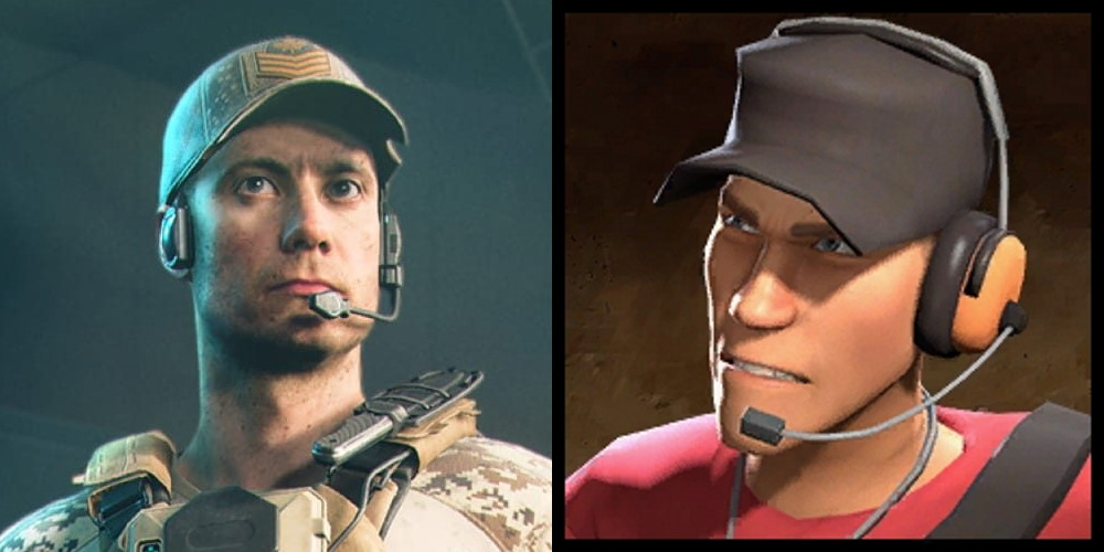 Battlefield 2042's Webster Mackay and TF2's Scout