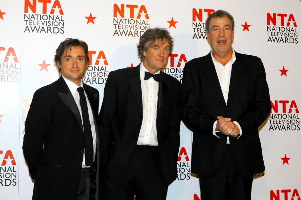 Top Gear presenters Richard Hammond, James May and Jeremy Clarkson