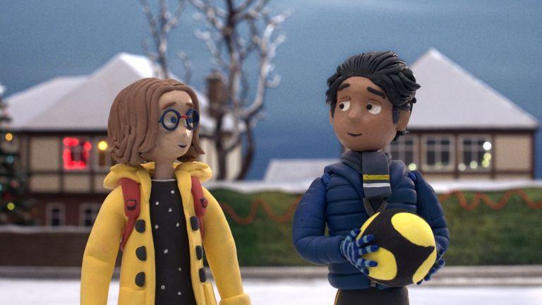 John Lewis Christmas advert 2020 still image of girl and boy