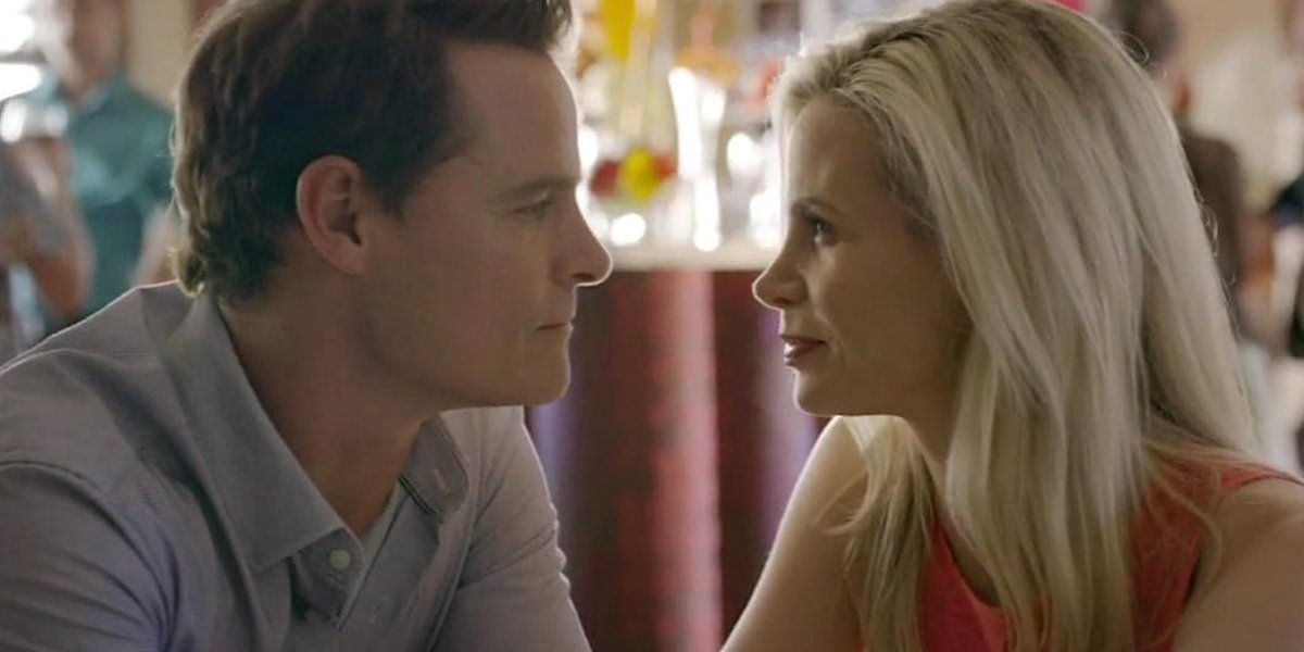 Dylan Neal and Brooke Burns in Eat, Drink & Be Buried: A Gourmet Detective Mystery
