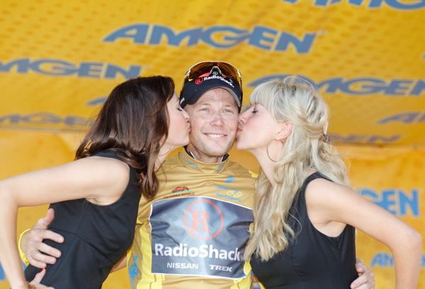 Chris Horner, podium, Tour of California 2011, stage 6 ITT
