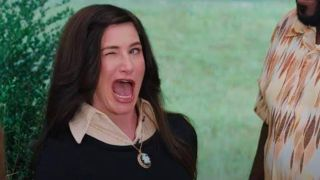 Kathryn Hahn winks in WandaVision
