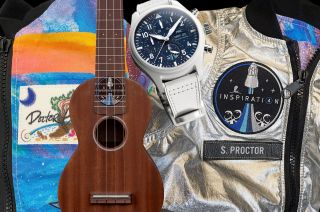 The Inspiration4 crew is flying to space custom jackets, watches, pens and ukulele among other items to auction after the mission to benefit St. Jude Children's Research Hospital.