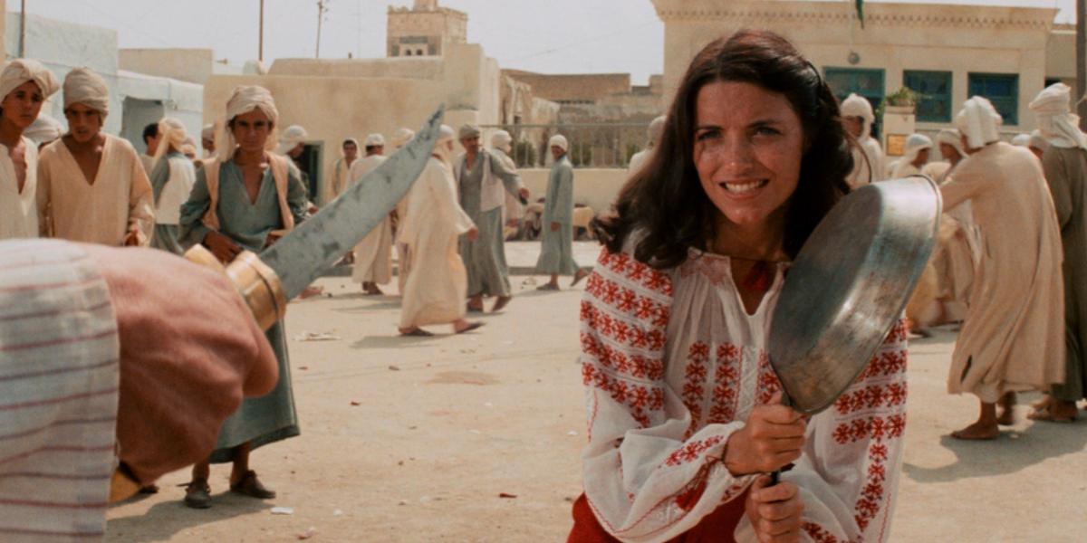 Karen Allen as Marion Ravenwood in Raiders of the Lost Ark