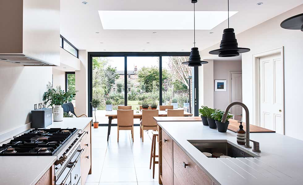 Modern rear extension with Scandinavian design | Real Homes