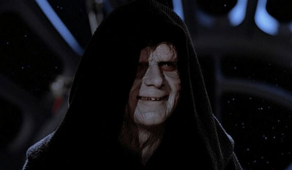 Ian McDiarmid as the Emperor in Star Wars The Return of the Jedi