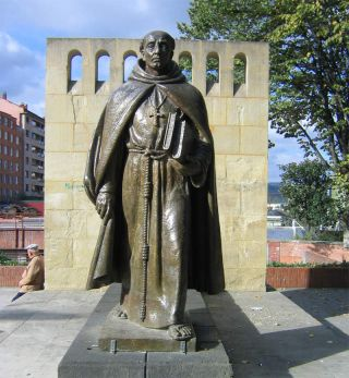 statue of archbishop in durango mexico