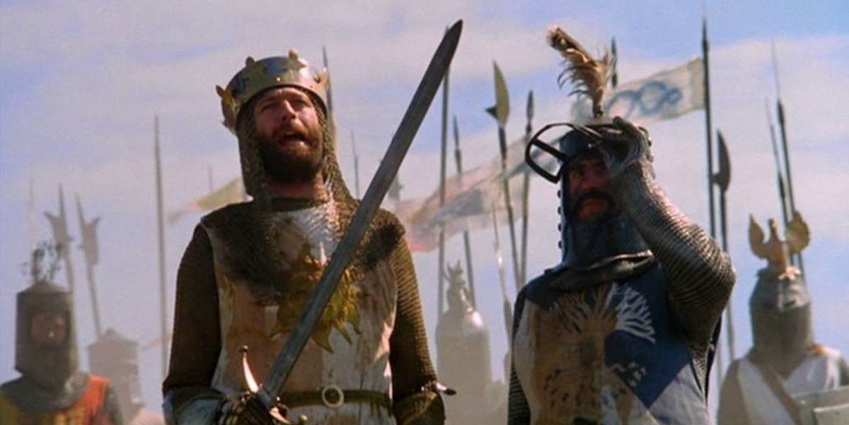 Graham Chapman and Terry Jones in Monty Python and the Holy Grail