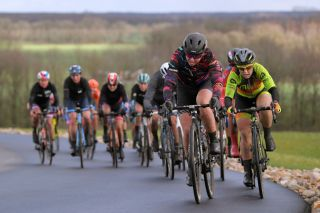 HOOGEVEEN NETHERLANDS MARCH 17 Tiffany Cromwell of Australia and Team Canyon SRAM Racing Chloe Hosking of Australia and Team Ale Cipollini during the 13rd Ronde van Drenthe 2019 UCI Womens WorldTour a 1657km race from Zuidwolde to Hoogeveen RondevDrenthe on March 17 2019 in Hoogeveen Netherlands Photo by Luc ClaessenGetty Images