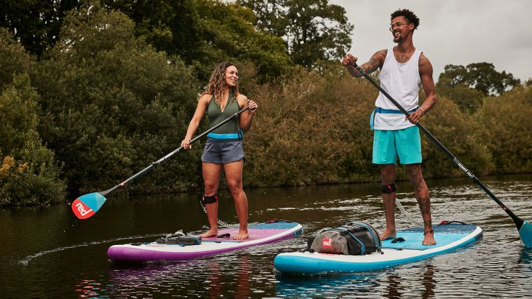 Red Paddle Co inflatable paddle board review: Ride MSL paddle board in use