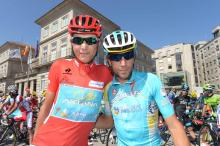Janez Brajkovic would pass the red jersey on to Astana leader Vincenzo Nibali by day's end.