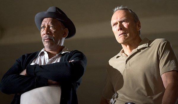 Morgan Freeman and Clint Eastwood in Million Dollar Baby
