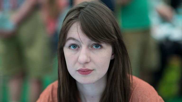 Sally Rooney, novelist, at the Hay Festival on May 28, 2017 in Hay on Wye, United Kingdom