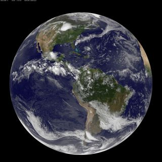 Summer Solstice Northern Hemisphere GOES-13 satellite