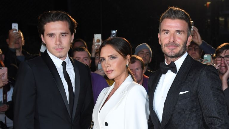 Brooklyn Beckham, Victoria Beckham and David Beckham attend the GQ Men Of The Year Awards 2019 at Tate Modern on September 03, 2019 in London, England.