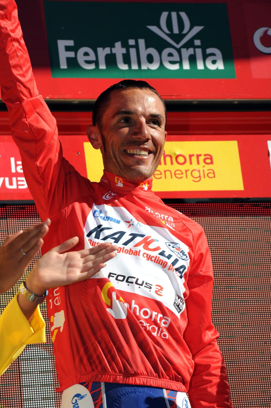 Joaquin Rodriguez in overall lead, Vuelta a Espana 2011, stage eight