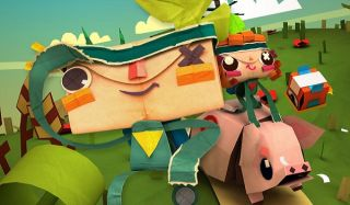 papercraft characters go on an adventure in Tearaway Unfolded