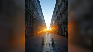 A team of scientists has found an alignment that occurs between the rising sun and a major street in Turin that was constructed around 28 B.C.