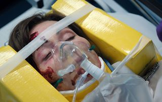 Casualty - Connie is unconscious when Louise finds her and rushes her to Resus