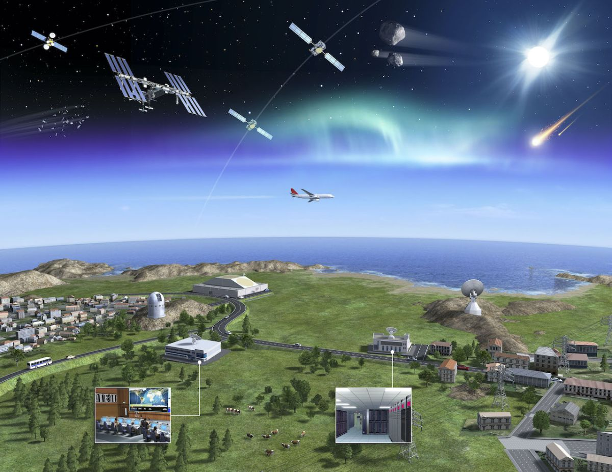 How are asteroids, space weather and space debris detected before they hit Earth?
