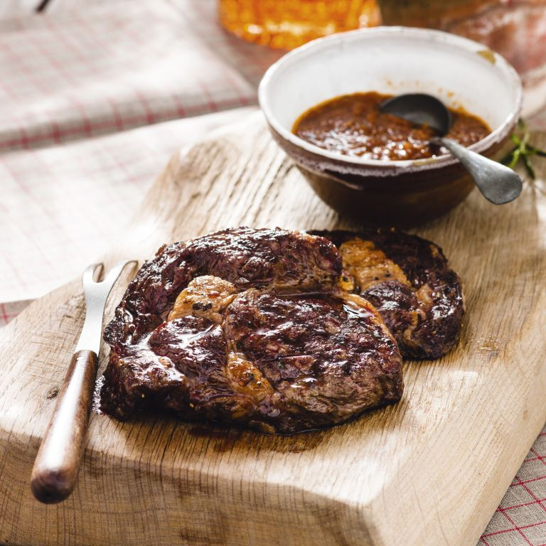 Rib eye steak with Barbacoa Sauce - steak recipes - woman&home July 2013