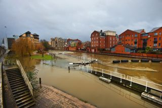 Flooding in Reading, England 2014
