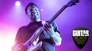 Guitarist Misha Mansoor of Periphery performs at The Fillmore on January 30, 2020 in San Francisco, California.