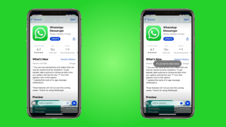 WhatsApp View Once feature showing on an Apple iPhone X