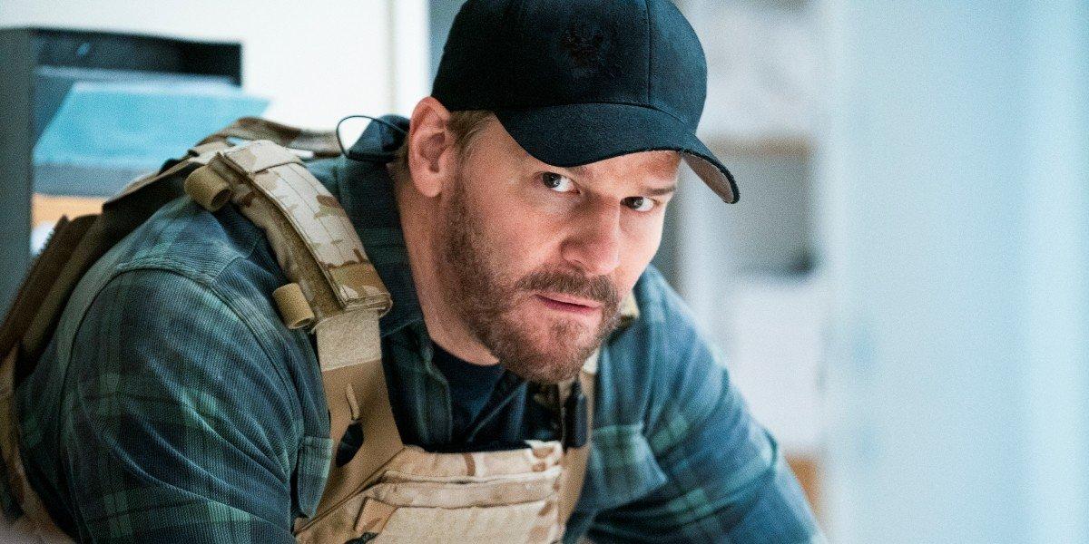 Jason Hayes looking concerned SEAL Team CBS