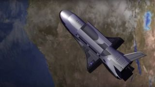U.S. Air Force's X-37B space plane in Earth orbit art