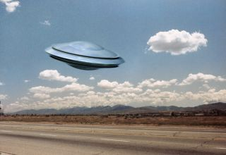 UFO on Earth.
