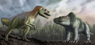 When paleontologists first described <i>Megalosaurus</i> in 1824, they thought it looked like the humped creature on the right. But now, researchers have deduced that it looks like the dinosaur on the left.