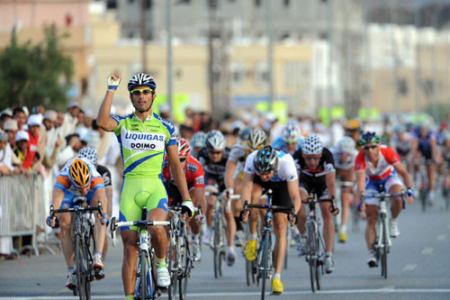 Daniele Bennati wins, Tour of Oman 2010, stage two