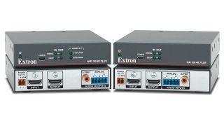 Extron has introduced the HAE 100 4K Plus audio de-embedder and HAI 100 4K Plus audio embedder.