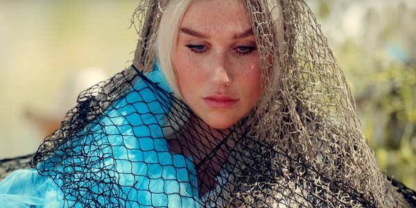 Kesha Praying music video caught in nets