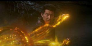 Shang-Chi using the ten rings in Shang-Chi.