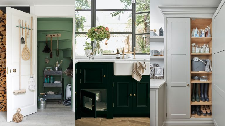 A composite of small utility room ideas