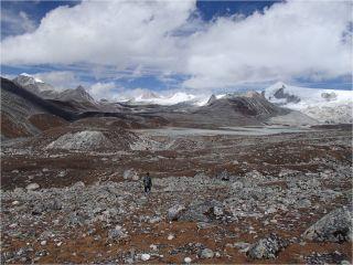 Rinchen Zoe plateau, Bhutan Himalaya.