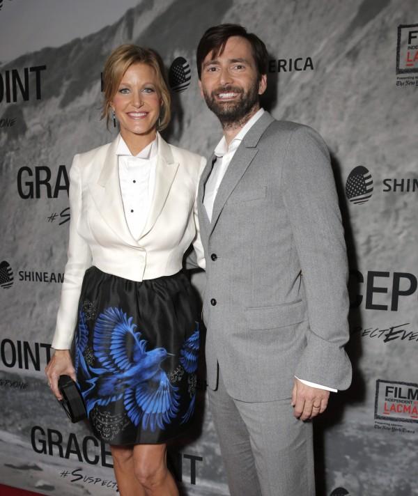 David Tennant and his Gracepoint co-star Anna Gunn