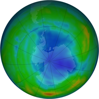 Antarctic Ozone Hole - Aug. 5, 2013