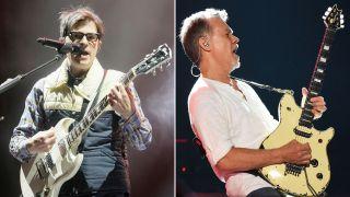 [L-R] Rivers Cuomo and Eddie Van Halen