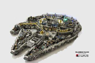 Lego Millenium Falcon Model