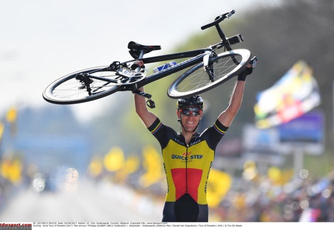 Philippe Gilbert (Quick-Step Floors) wins the 2017 Tour of Flanders