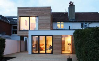 Contemporary two storey extension